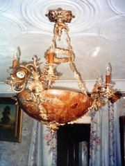 Люстра 18 века бронза руинный мрамор