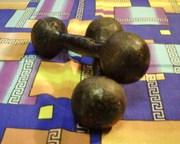 Гантели от 1, 5 до 12 кг.